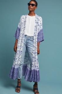 MUCHE ET MUCHETTE Mel Duster Kimono Blue Dress