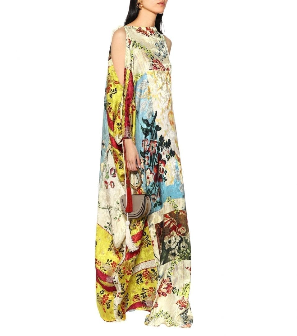 OSCAR DE LA RENTA Silk jacquard kaftan Multicolored Dress