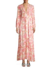 PALOMA BLUE Bowie Kimono Maxi Pink Dress