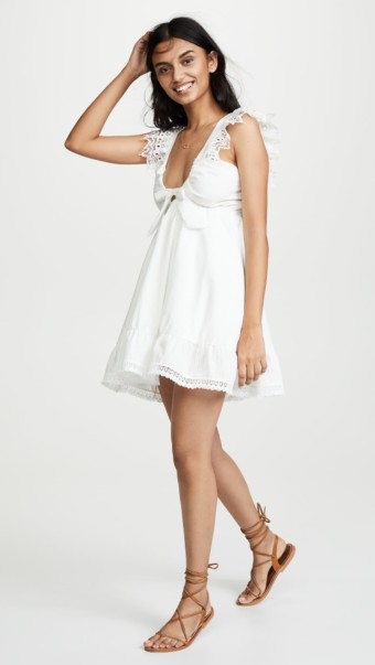 PEIXOTO Farrah White Dress