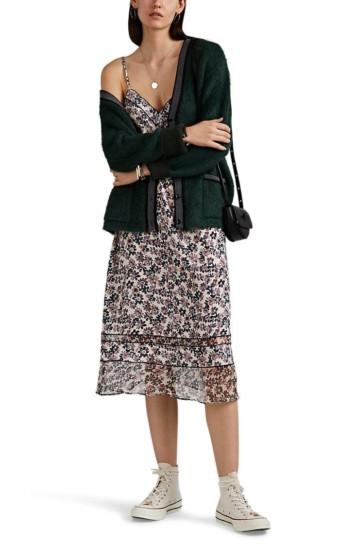 RAG & BONE Ilona Floral Silk Crêpe De Chine Ivory Dress