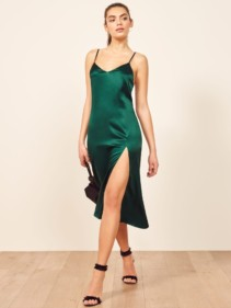 REFORMATION Britten Green Dress