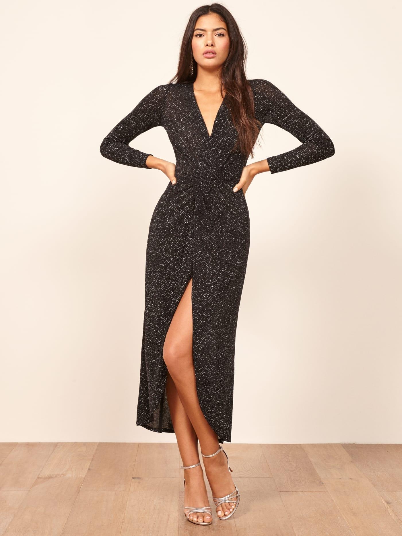 REFORMATION Carlyle Black Dress