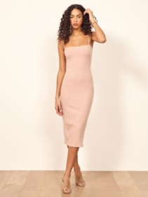 REFORMATION Haley Blush Dress