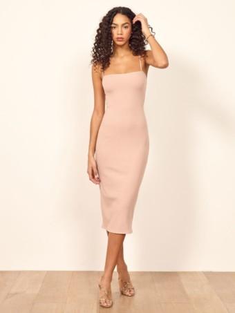REFORMATION Haley Blush Dress