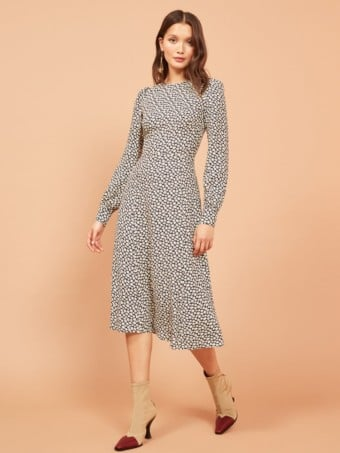 REFORMATION Josephine Navy / Floral Printed Dress