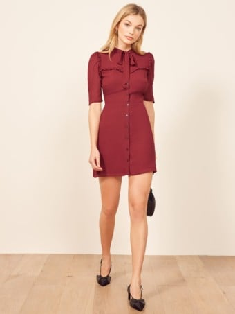 REFORMATION Kinsly Red Dress