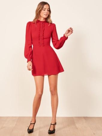 REFORMATION Mathilda Cherry Dress