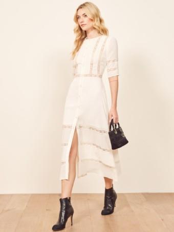 REFORMATION Surrey Ivory Dress