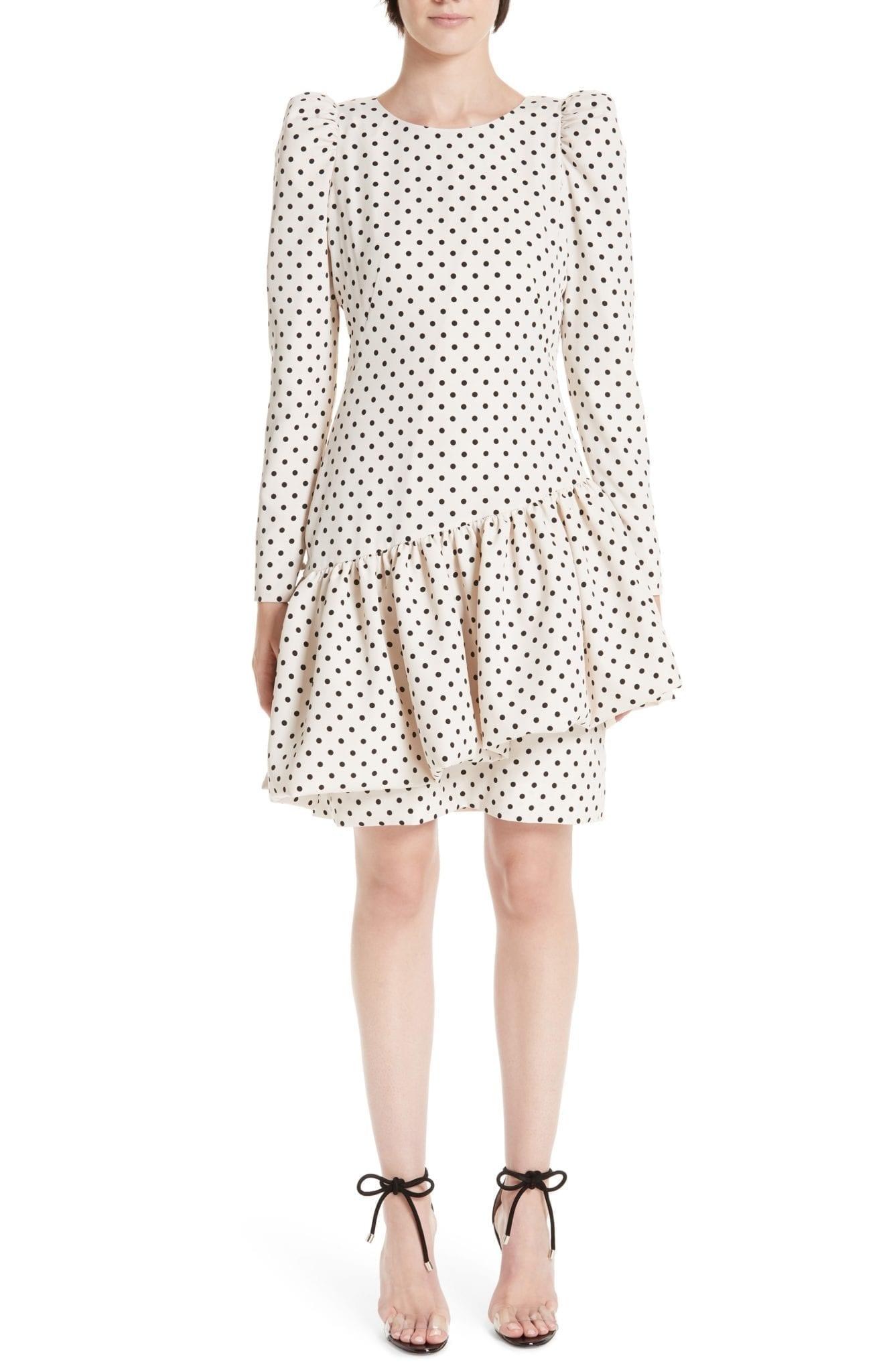 REJINA PYO Vera Asymmetrical Ivory Dress
