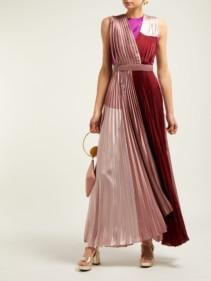 ROKSANDA Kimora Pleated Satin Pink / Burgundy Gown