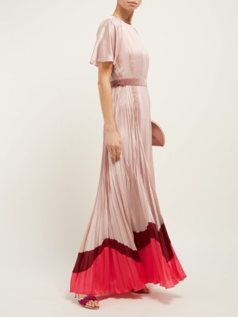 ROKSANDA Zari Pleated Satin Dusty Pink Gown