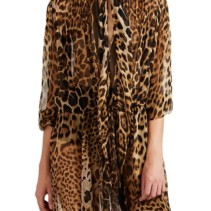 7add14c5c125 SAINT LAURENT Leopard-Print Chiffon Brown Dress - We Select Dresses