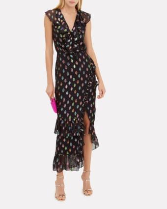 SALONI Anita Rainbow Black Dress
