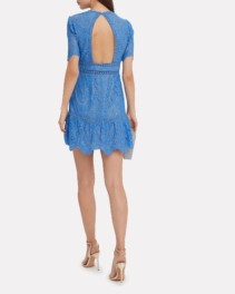 SAYLOR Darian Lace Blue Dress