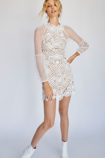 SAYLOR Presley Mini Ivory Dress