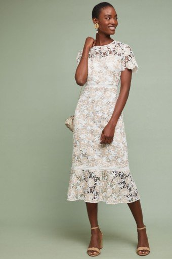 SHOSHANNA Beaulieu Lace Ivory Dress