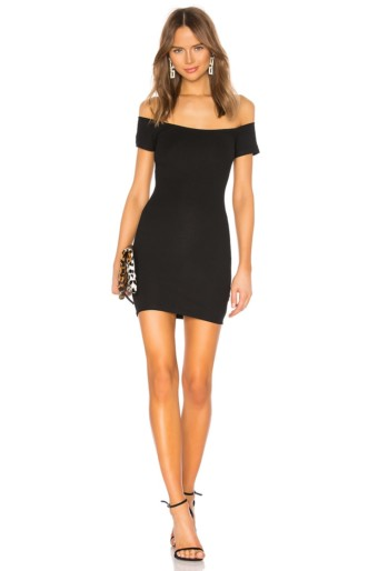 SUPERDOWN Adeline Tie Mini Black Dress