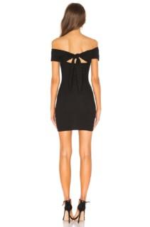 SUPERDOWN Adeline Tie Mini Black Dress