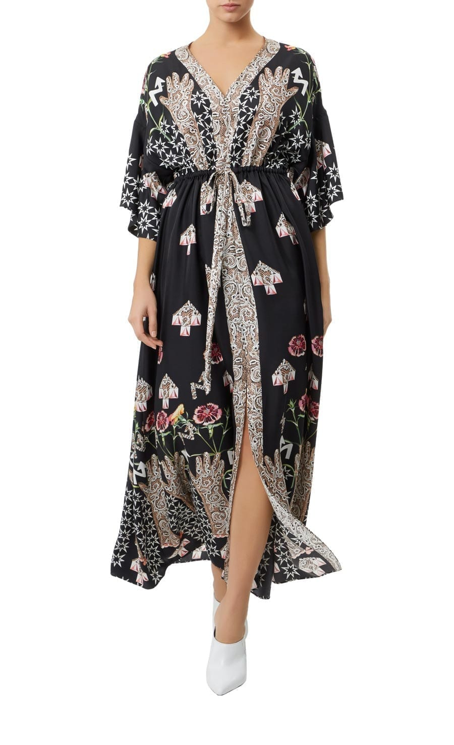 TEMPERLEY LONDON Beaumont Flux Kaftan Black Dress