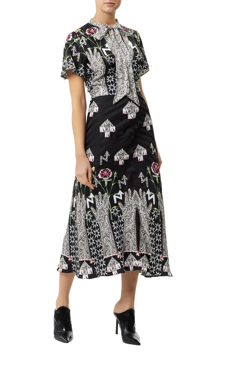 TEMPERLEY LONDON Flux Midi Black Dress