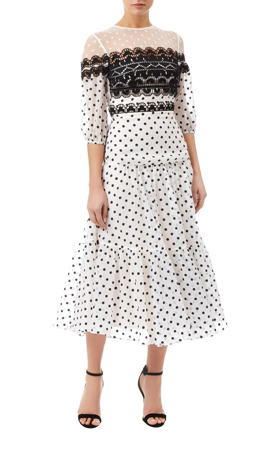 TEMPERLEY LONDON Prix Midi White Dress