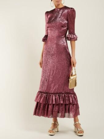 THE VAMPIRE'S WIFE Cinderella Ruffle-trimmed Silk-blend Pink Dress
