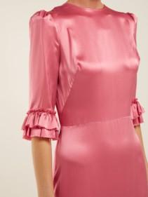 THE VAMPIRE'S WIFE Festival Ruffled Silk-satin Maxi Pink Dress