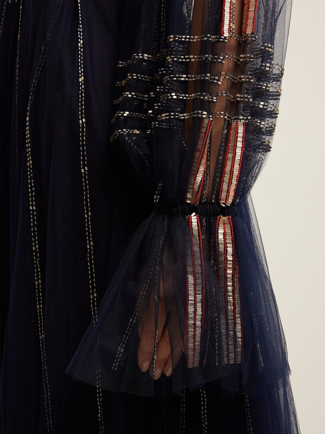 313a0a51a63bf VALENTINO Bead Embroidered Tulle Navy Gown - We Select Dresses
