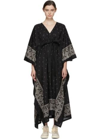 VISVIM Kaftan Bandana Black Dress