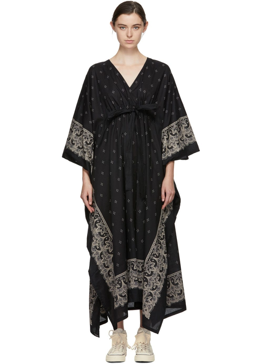 VISVIM Kaftan Bandana Black Dress