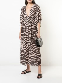 ZIMMERMANN Zebra Print Brown Dress