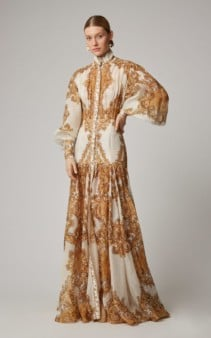 ZIMMERMANN Zippy Billow Silk Maxi Printed Dress