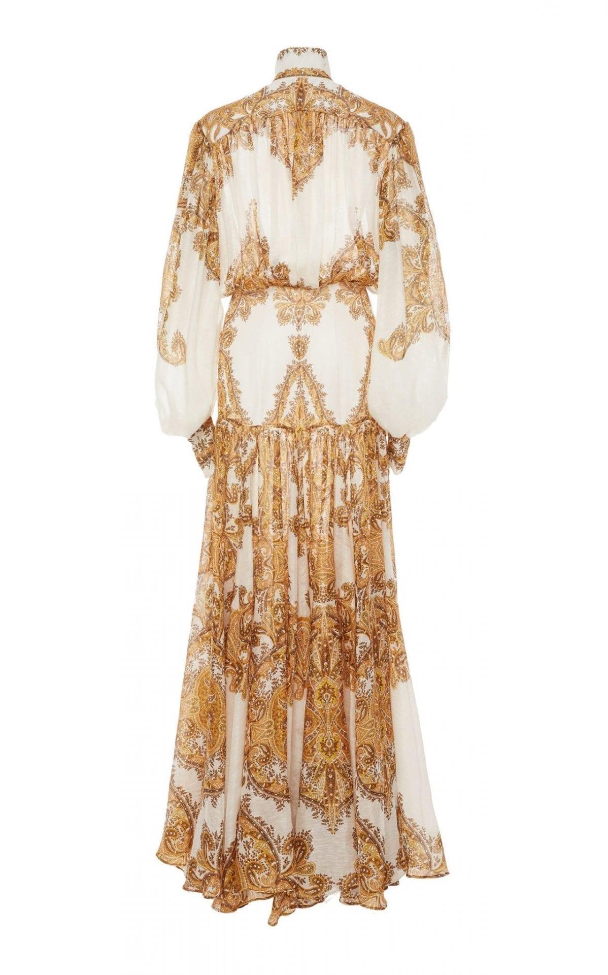 Zimmermann Zippy Billow Silk Maxi Printed Dress We