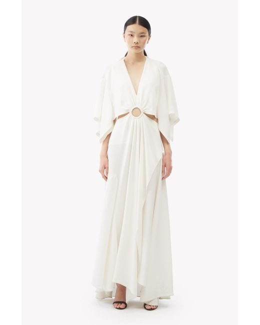 3.1 PHILLIP LIM Cut-Out Crepe Maxi White Dress