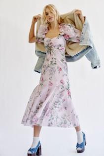 ALICE MCCALL Send Me A Postcard Lilac Dress