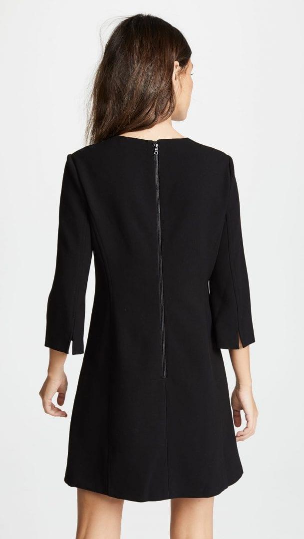 017fe34d9f7 ALICE + OLIVIA Gem 3 4 Sleeve Shift Black Dress - We Select Dresses
