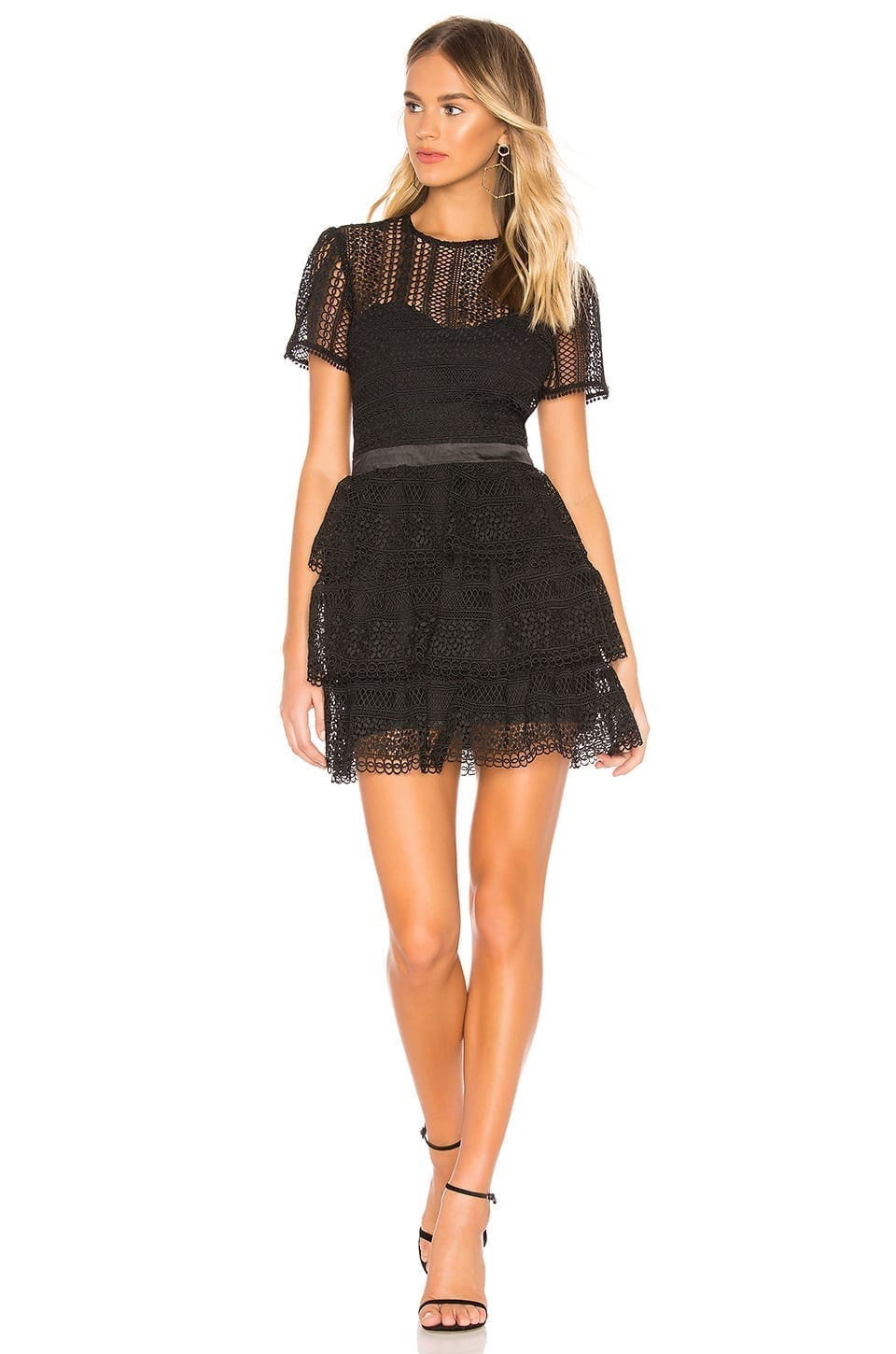 BARDOT Ava Lace Black Dress