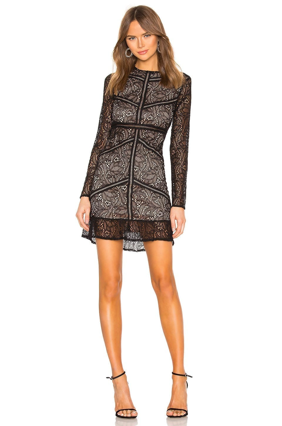 BARDOT Sasha Lace Black Dress