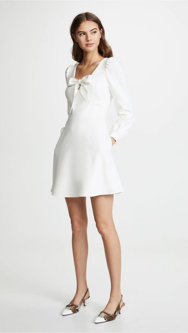 BLACK HALO Ellen Mini White Dress