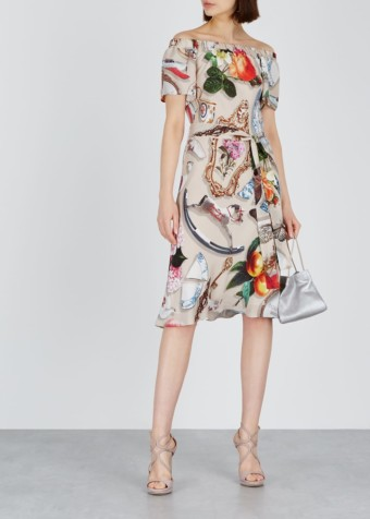 BOUTIQUE MOSCHINO Off-the-shoulder Printed Dress