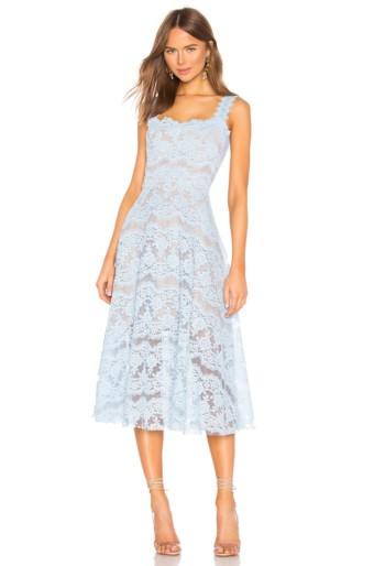 BRONX AND BANCO Skye Midi Blue Dress