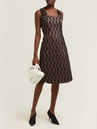 CHRISTOPHER KANE Lace-bonded Satin Black Dress