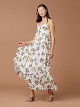 DIANE VON FURSTENBERG Baylee Silk Maxi Ivory Dress