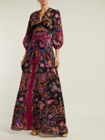 ETRO Varo Sequin-embroidered Silk Black Dress