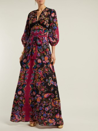 ETRO Varo Sequin-embroidered Silk Black Dress