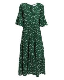 FAITHFULL THE BRAND Melia Midi Green / Floral Printed Dress