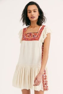 FREEPEOPLE Day Glow Mini White Dress