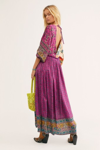 FREEPEOPLE What You Want Maxi Multicolored Dress