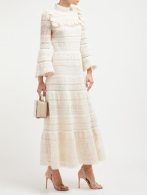 GIAMBATTISTA VALLI Ruffled Cotton-crochet White Gown